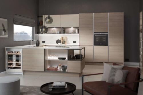 Vincenza Oak and Taupe