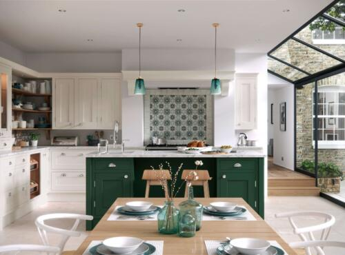 Classic Kitchens - Baystone Bespoke - Calico  Forest Green - Main  rsz